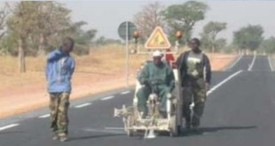 Contrôle et Surveillance des travaux de bitumage de la route Fatick – Diakaho – Gossas (50 km) au Sénégal